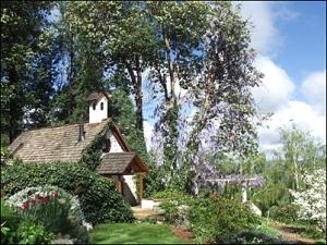 Chapel in the Crystal Hermitage garden